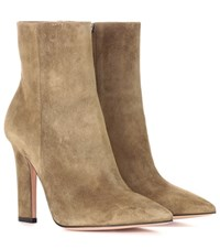 Gianvito Rossi Daryl Suede Ankle Boots Green