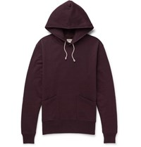 J.Crew Wallace And Barnes Loopback Cotton Jersey Hoodie Burgundy
