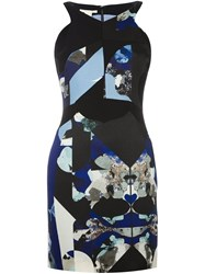 Antonio Berardi Printed Fitted Dress Black