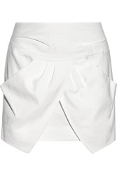 Isabel Marant Irwin Linen Blend Mini Skirt White