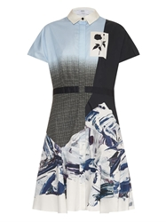 Prabal Gurung Ombre Effect Marble Print Shirt Dress