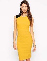 Vesper Rina Dress With Lace Back Yellow