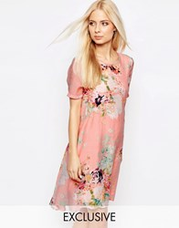 Y.A.S Floral Drop Hem Dress Floral