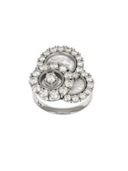 Chopard Happy Dreams Diamond Mother Of Pearl And 18K White Gold Ring