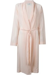 Forte Forte Belted Overcoat Pink And Purple