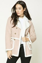 Forever 21 Faux Shearling Lined Coat