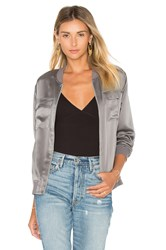 Equipment Abbot Satin Bomber Gray