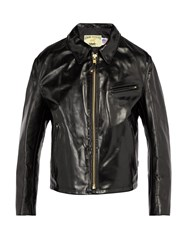 Schott Leather Jacket Black