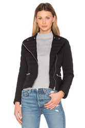 Add Down Biker Jacket Black