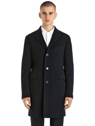 Tagliatore Virgin Wool And Cashmere Coat Navy