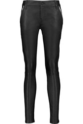 Rta Lucy Embellished Leather Skinny Pants Black