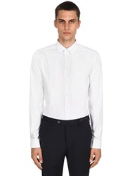 Eton Cotton Twill Stretch Shirt White