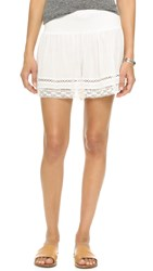 Rebecca Taylor Gauze Ruched Shorts Snow