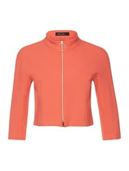 Marc Cain Cropped Zip Up Jacket Grenadine