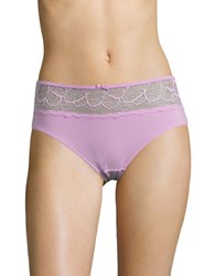 Bali Lace Topped Hipster Panties Pink Quartz