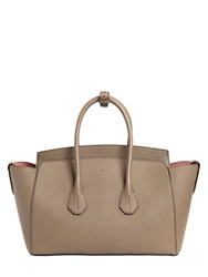 Bally Large Sommet Grained Leather Top Handle
