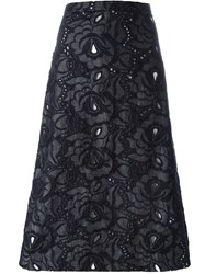 No21 Lace A Line Skirt Grey
