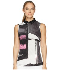 Jamie Sadock Osaka Print Sleeveless Top Jet Black
