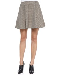 Theory Merlock Plaid A Line Short Skirt Women's Brown Multi