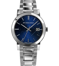 Burberry Bu9031 Stainless Steel Bracelet Watch Blue