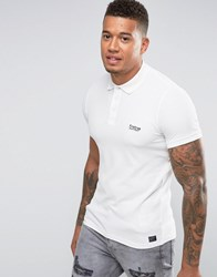 Firetrap Oil Washed Polo Shirt White