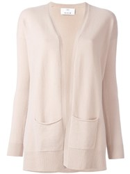 Allude Pocket Detail Cardigan Nude Neutrals