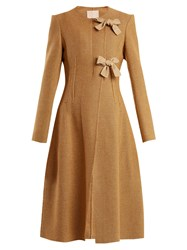 Brock Collection Charlotte Wool Blend Coat Brown White