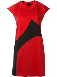 Y 3 Loose T Shirt Dress Red