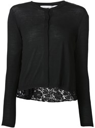 Valentino Lace Back Cardigan Black