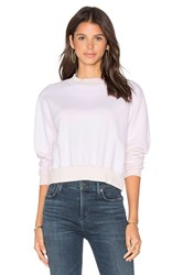 Cotton Citizen Milan Cropped Sweatshirt Pink