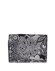 Lodis Vanessa Swirl Leather French Purse Grey Multi