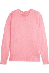 Marni Mohair Blend Sweater Baby Pink