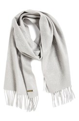 Women's Badgley Mischka Metallic Speckle Oversize Scarf Grey Potash Silver