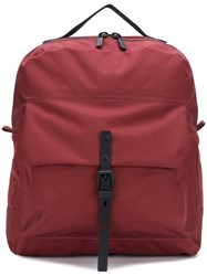 Ally Capellino Buckle Pocket Backpack Red