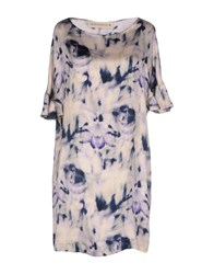 Shirtaporter Short Dresses Light Purple
