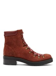 Rupert Sanderson Roanoke Suede Lace Up Boots Brown