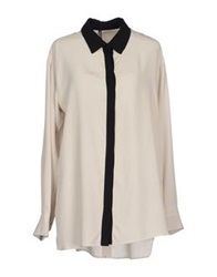 Liviana Conti Shirts Light Grey