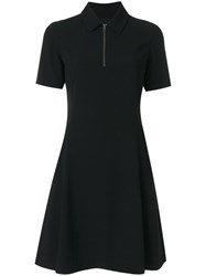 Kenzo Fit And Flare Polo Dress Women Polyester Triacetate 40 Black