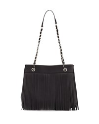 Posse Jayme Fringe Leather Tote Bag Black