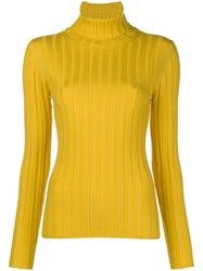 Aspesi Turtle Neck Jumper Yellow And Orange