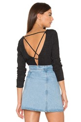Lanston Cross Back Top Black