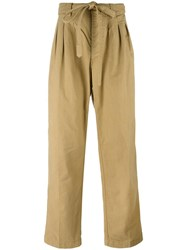 Visvim Drawstring Loose Fit Trousers Nude Neutrals