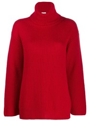 Red Valentino Turtleneck Knitted Jumper Red