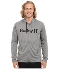 Hurley Dri Fit Lake Street Zip Carbon Heather Men's Clothing Gray