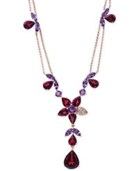 Effy Collection Bordeaux By Effy Rhodolite Garnet 13 1 5 Ct. T.W. Amethyst 3 1 2 Ct. T.W. And Diamond Accent Necklace In 14K Rose Gold Red