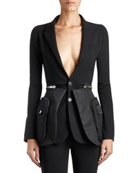 Givenchy Crepe And Satin Utility Blazer Black