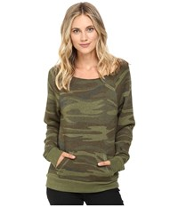 Alternative Apparel Maniac Printed Fleece Sweatshirt Camo Women's Sweatshirt Multi