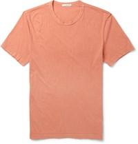 James Perse Slim Fit Cotton Jersey T Shirt Orange