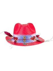 Ibo Maraca Feather's Lovers Hat Red