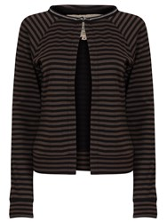 Garcia Women Cardigan With Stripes Multi Coloured